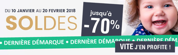 SOLDES : 3ÈME DÉMARQUE JUSQU'À -70% !